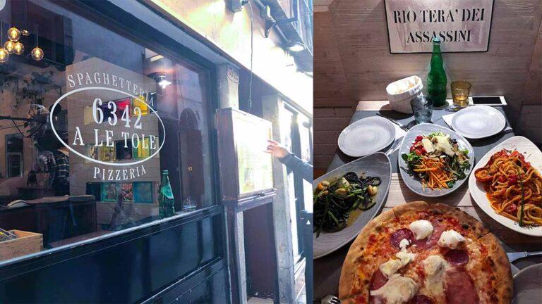 威尼斯Venice餐廳推薦|A le Tole超彈牙的墨魚麵,比米其林餐廳還好吃!