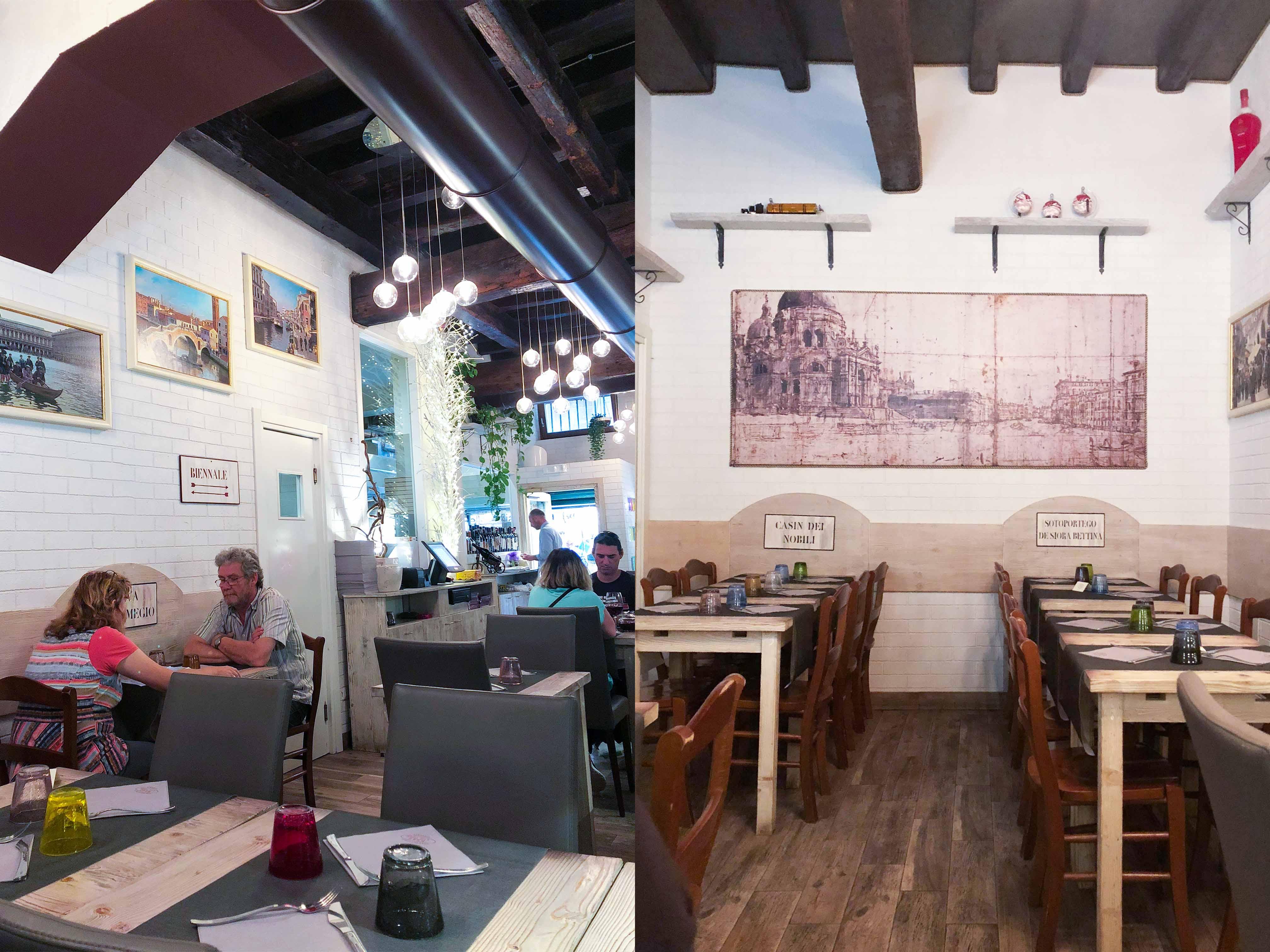 威尼斯ALeTole餐廳內佈置