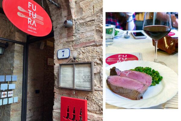 義大利西恩納Siena|這是天堂的料理吧?!山城莊園內的超讚紅蝦評鑑餐廳-Futura Osteria