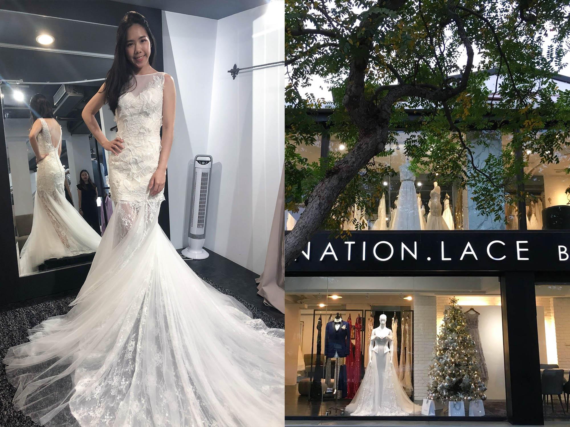 香檳蕾絲Coronation.Lace|歐美系婚紗試穿,沒想像中貴,高C/P值的白紗&禮服試穿