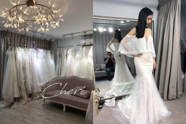 Cheri法式手工婚紗|挑選婚紗攝影、宴客款式,16件白紗、禮服試穿