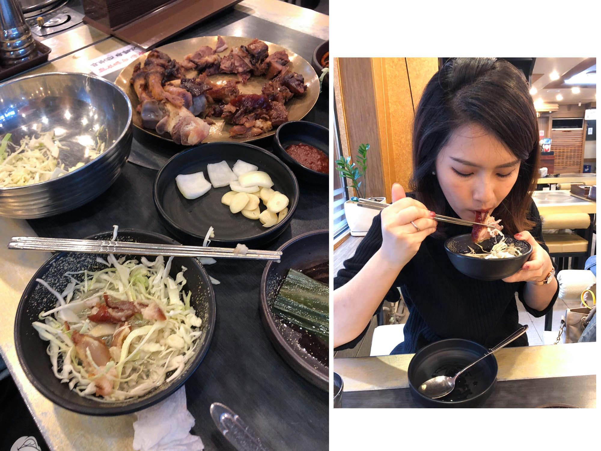 韓國豬腳拌高麗菜絲