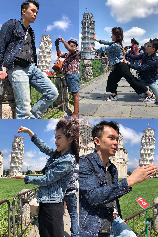 比薩鐵塔拍照方式