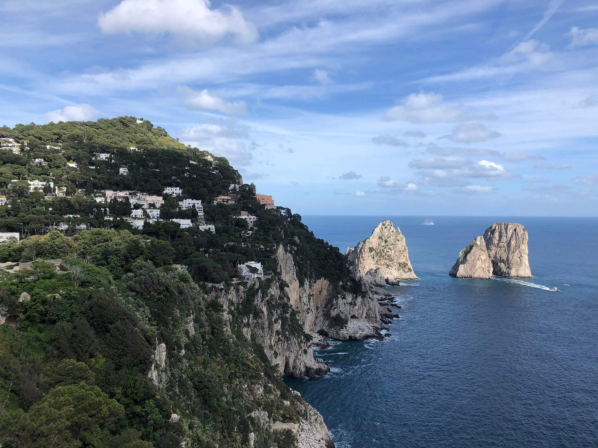 卡布里島Capri山崖