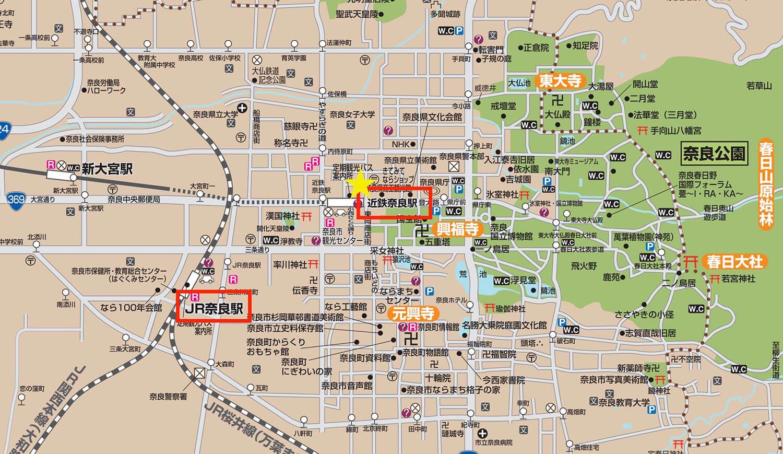 奈良周邊地圖
