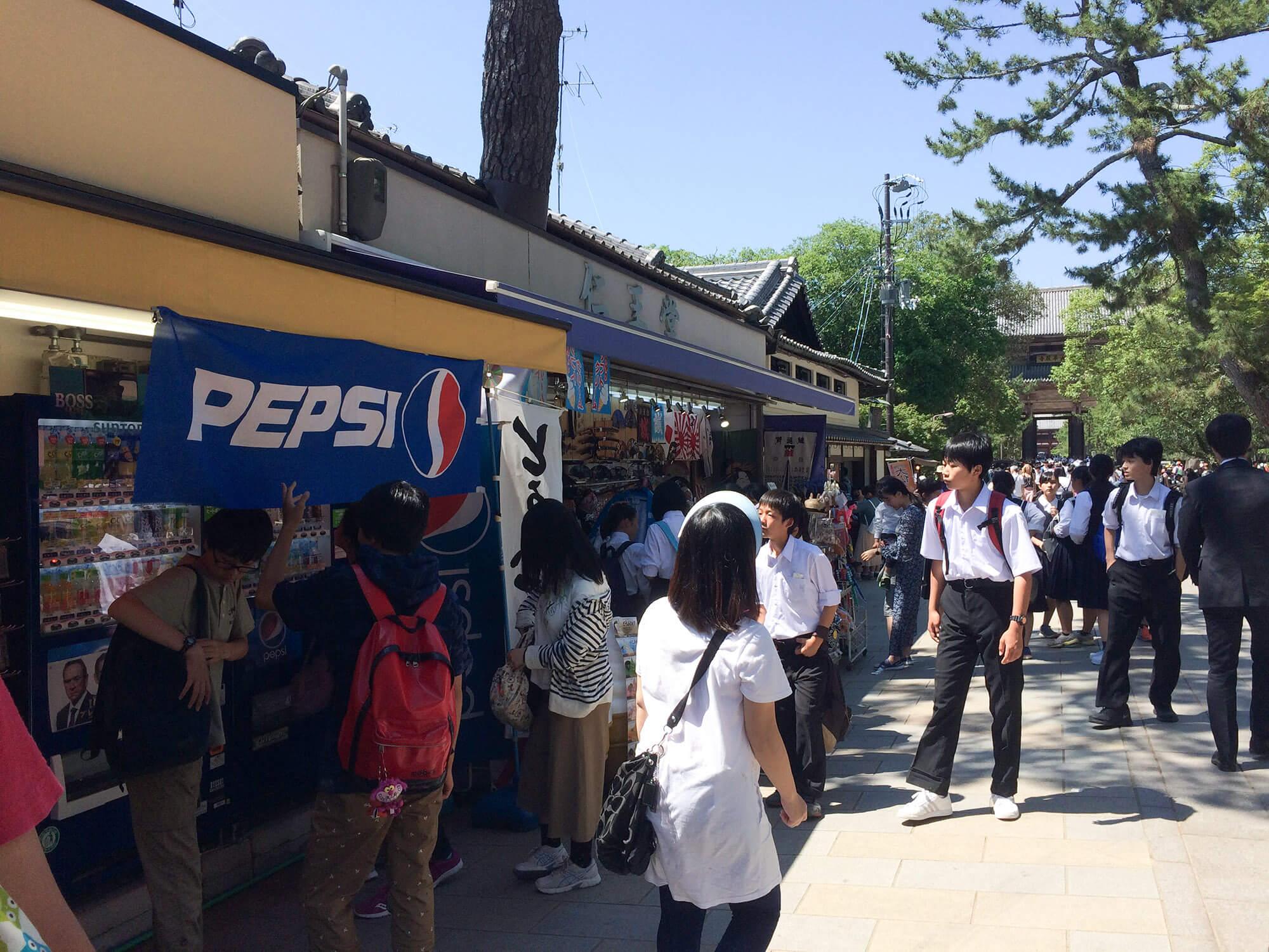 奈良公園的商店街