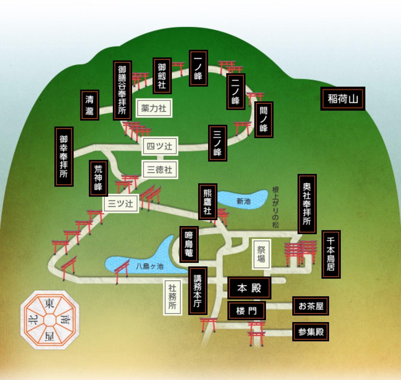 稻荷山地圖