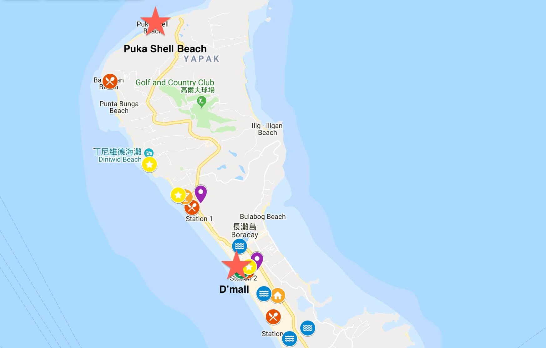 Puka beach地圖