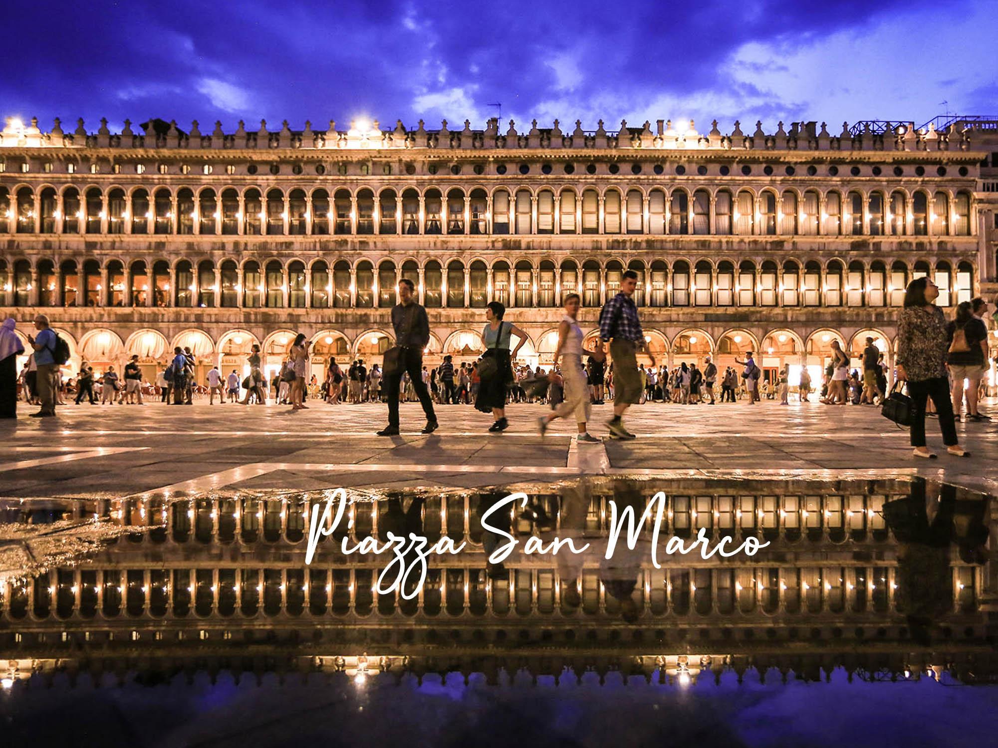 威尼斯|聖馬可廣場,漲潮時的水中倒影簡直神美,浪漫指數破表!