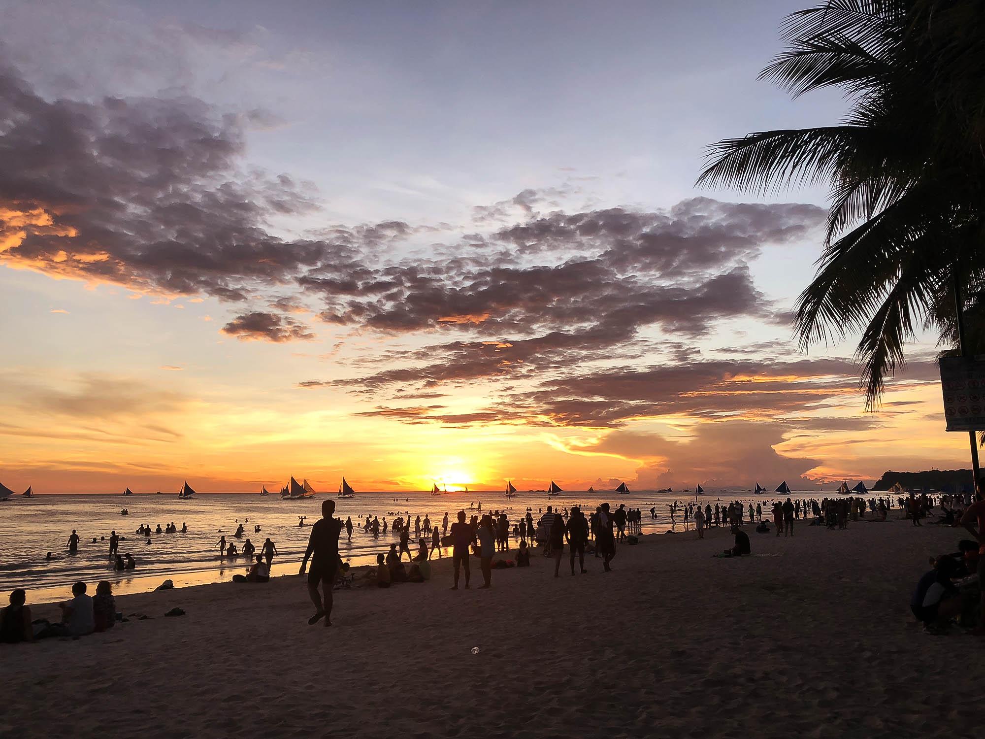 長灘島夕陽沙灘