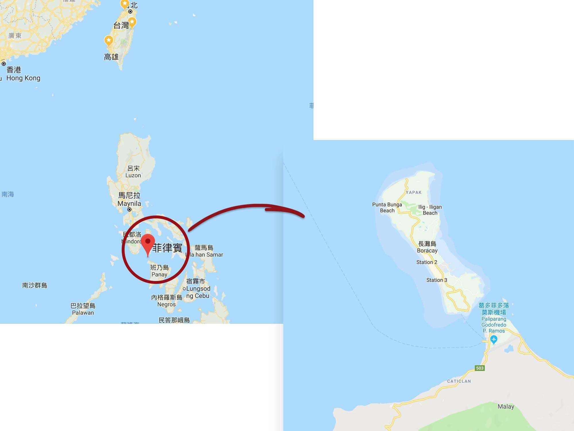 長灘島的位置ok