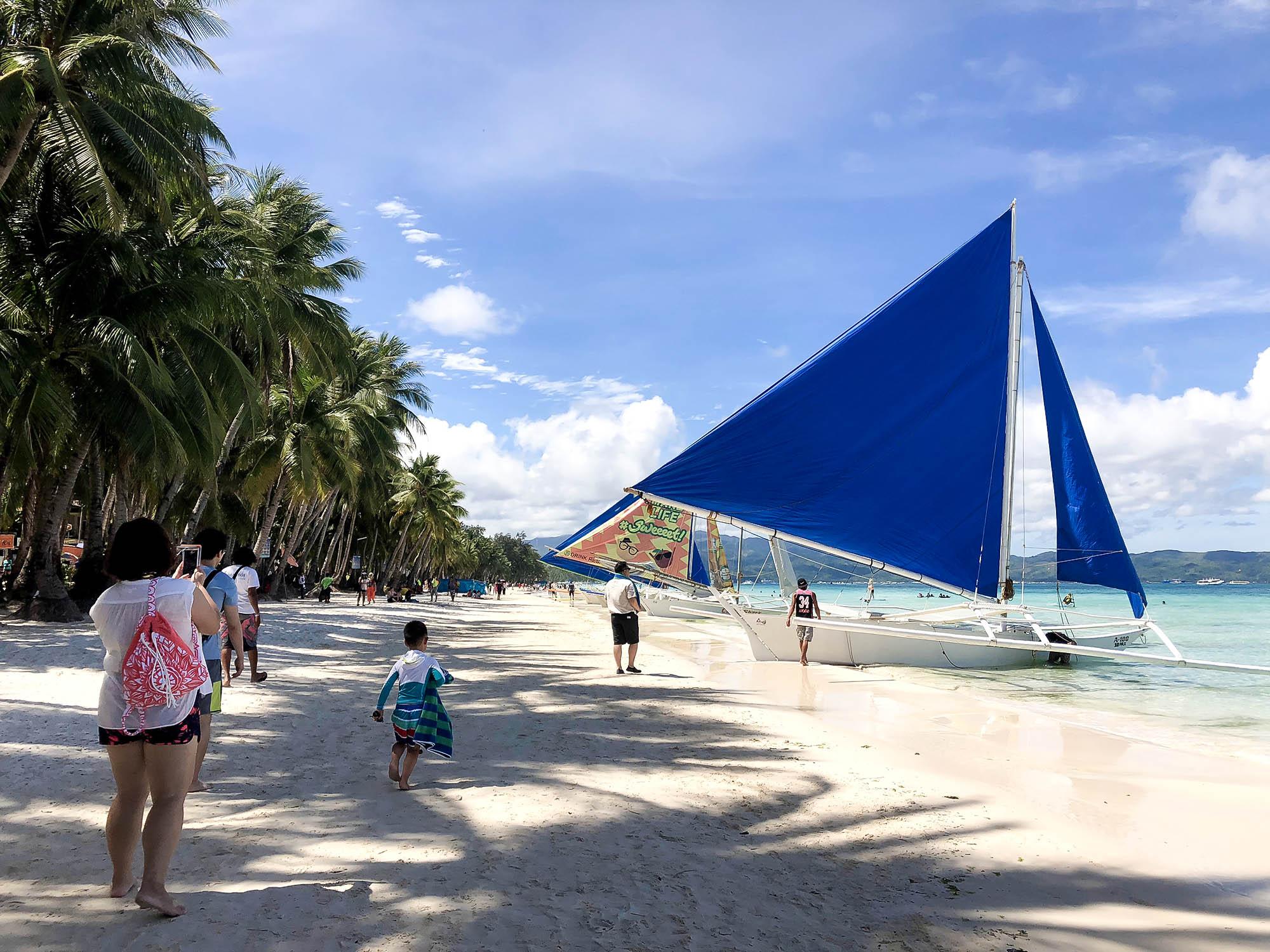 風帆船海灘
