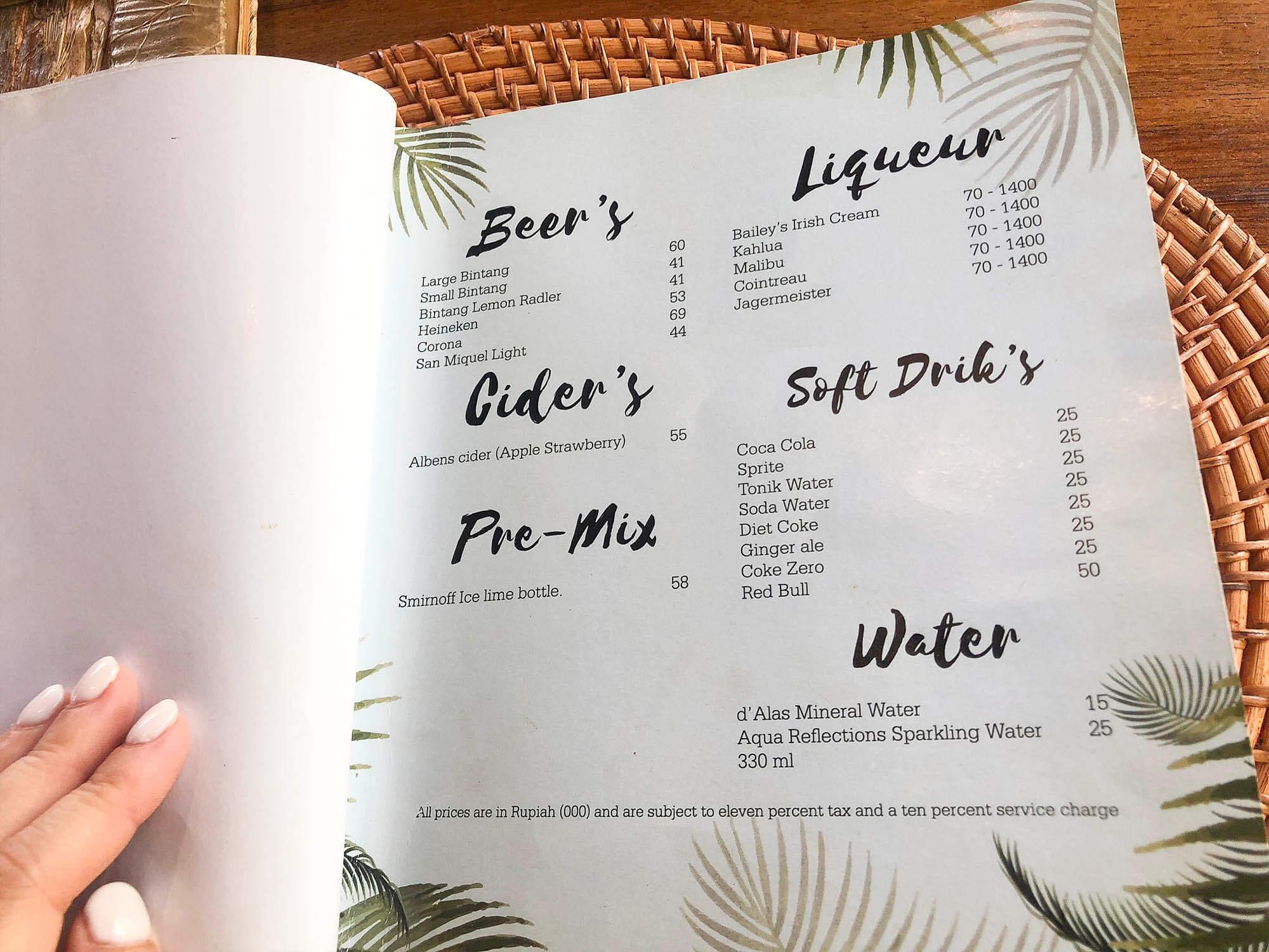 dAlas菜單menu飲料