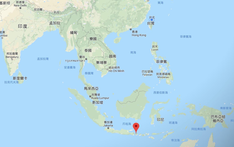 峇里島位置