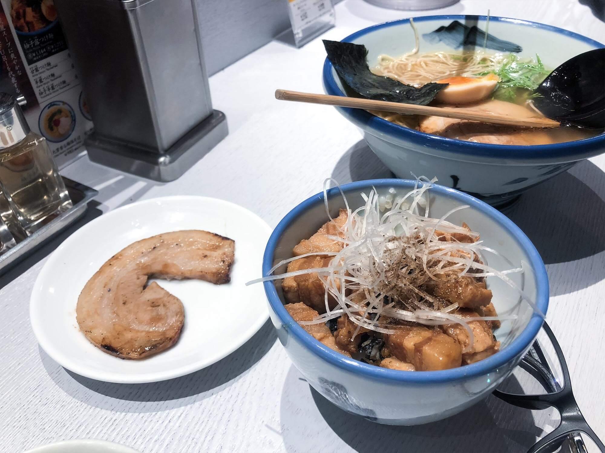 AFURI_六本木_柚子鹽拉麵和nikugohan
