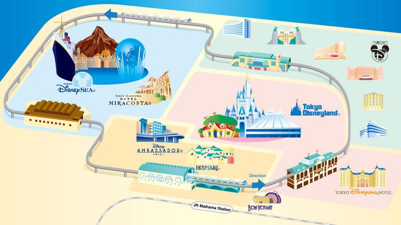 東京迪士尼園區地圖