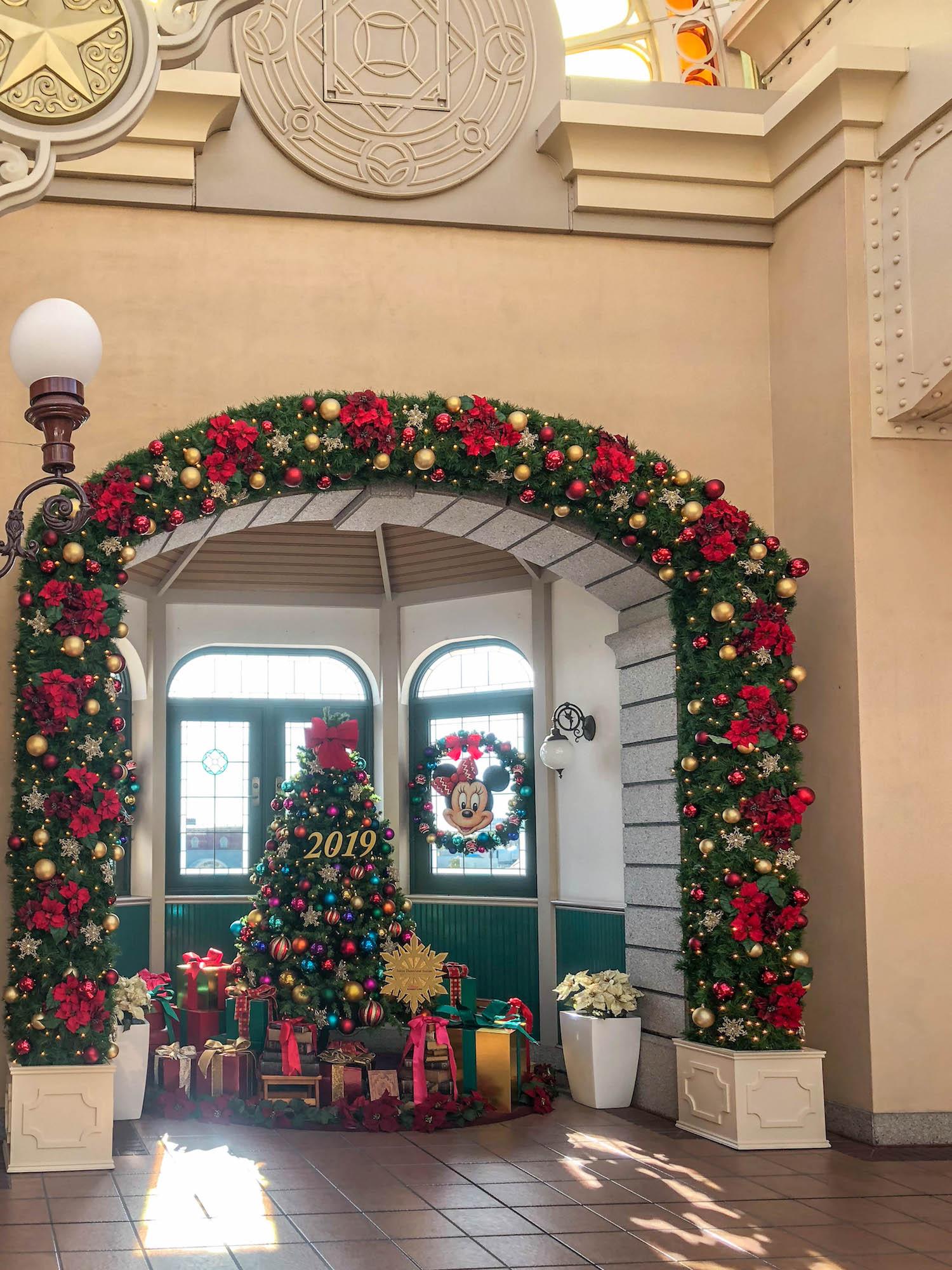 東京Disneyland station_聖誕樹