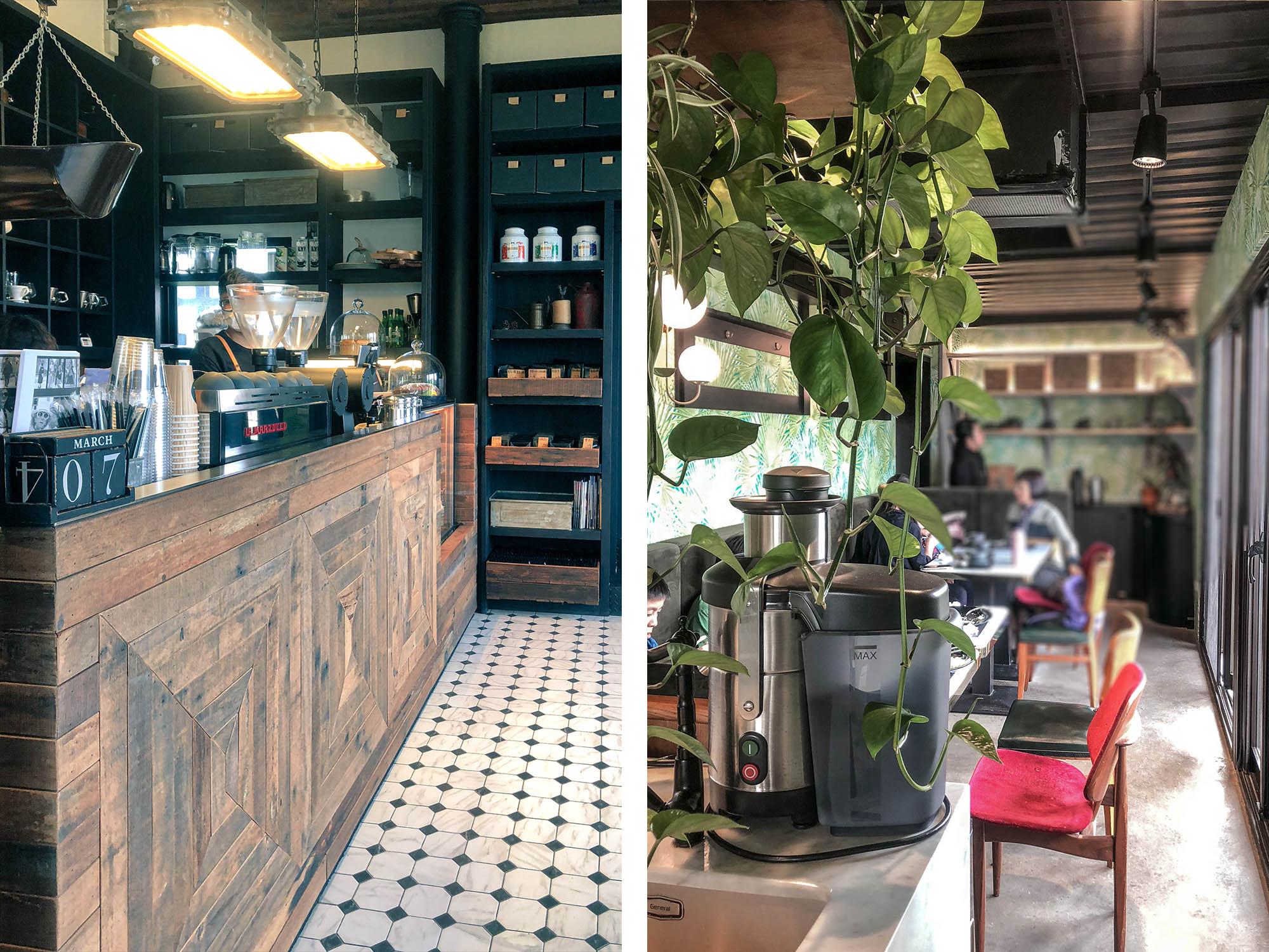 黑宅咖啡櫃檯和隔壁貨櫃