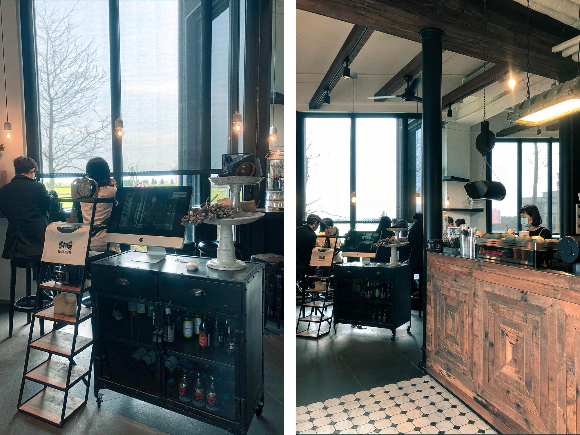 黑宅咖啡櫃檯環境
