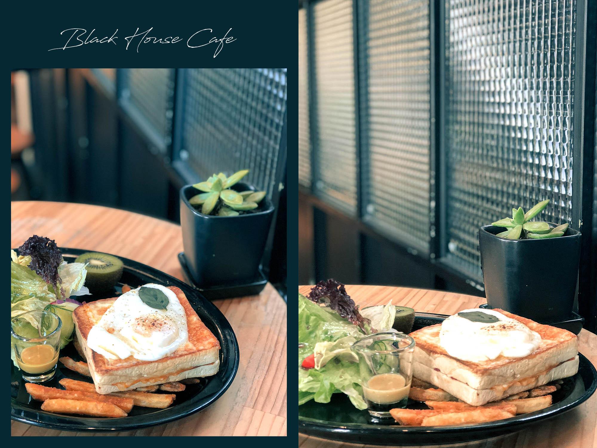 黑宅咖啡_起士吐司早午餐1