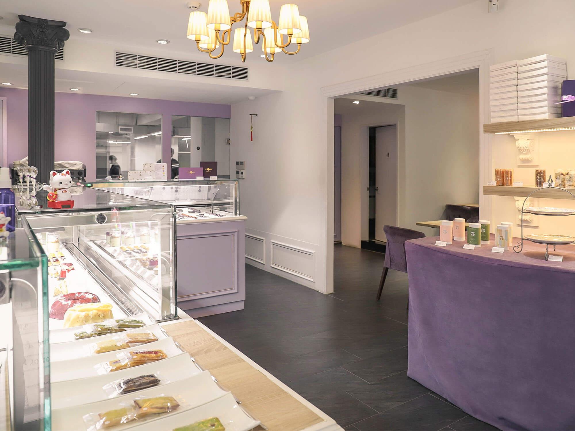 1789 Café Pâtisserie店內櫃檯