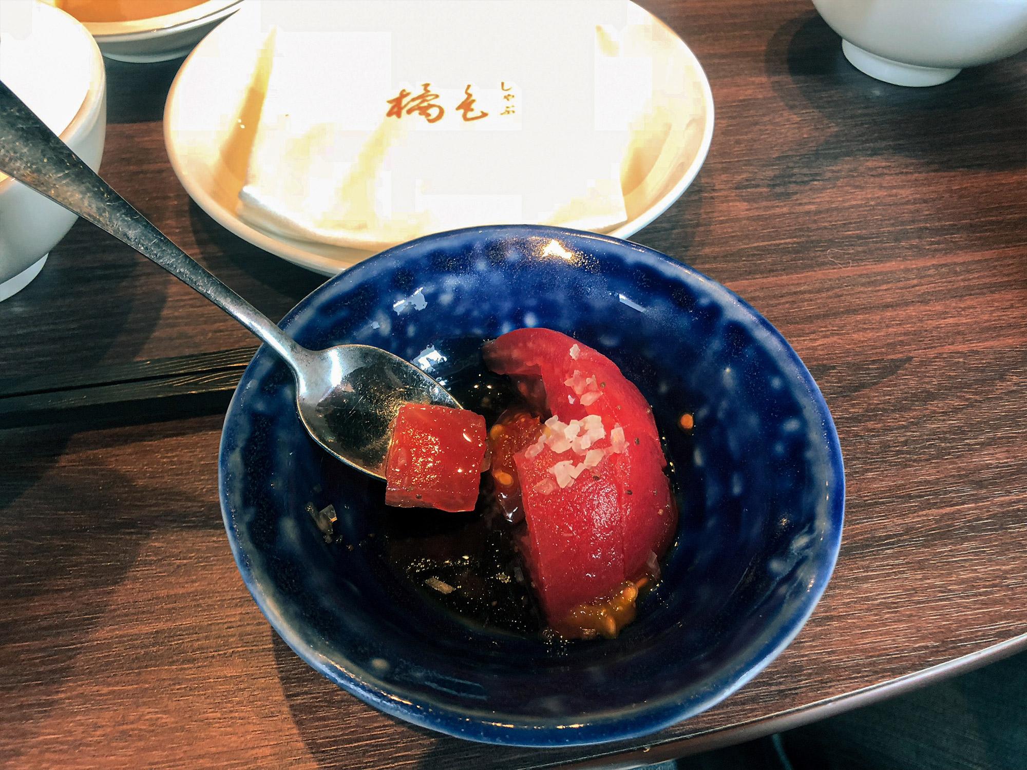 橘色二館前菜番茄