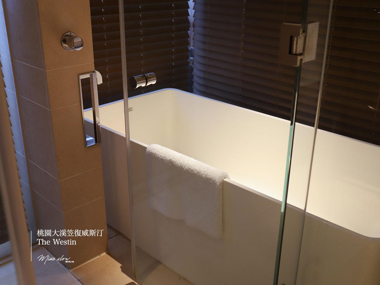 桃園大溪笠復威斯汀雙人房浴室浴缸