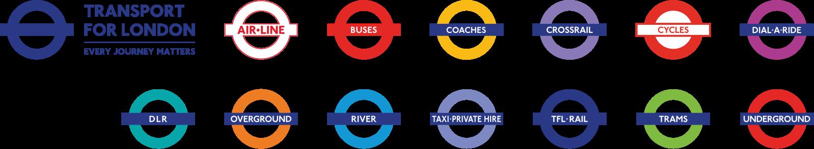 倫敦交通 倫敦11種交通工具全攻略-倫敦的交通符號logo