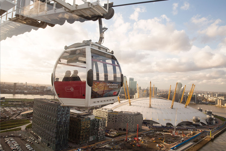 倫敦交通 11種交通工具全攻略:阿聯酋空中纜車 Emirate Air Line