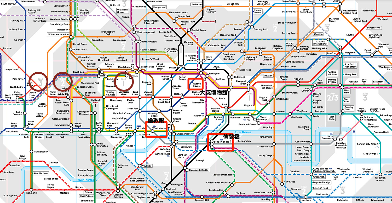 """倫敦地鐵和火車怎麼搭划算?-倫敦票價的運作邏輯""""zone""""區分票價區域"""