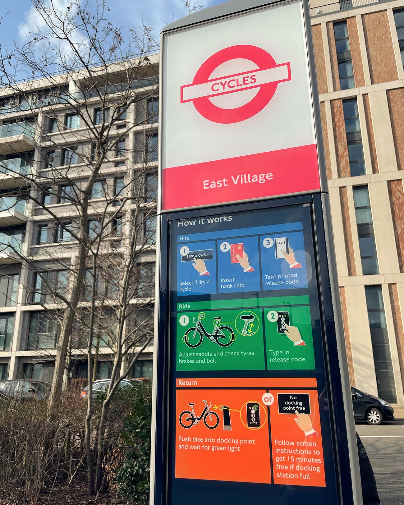 倫敦共享單車 Santander Cycle租借方式-租借機器