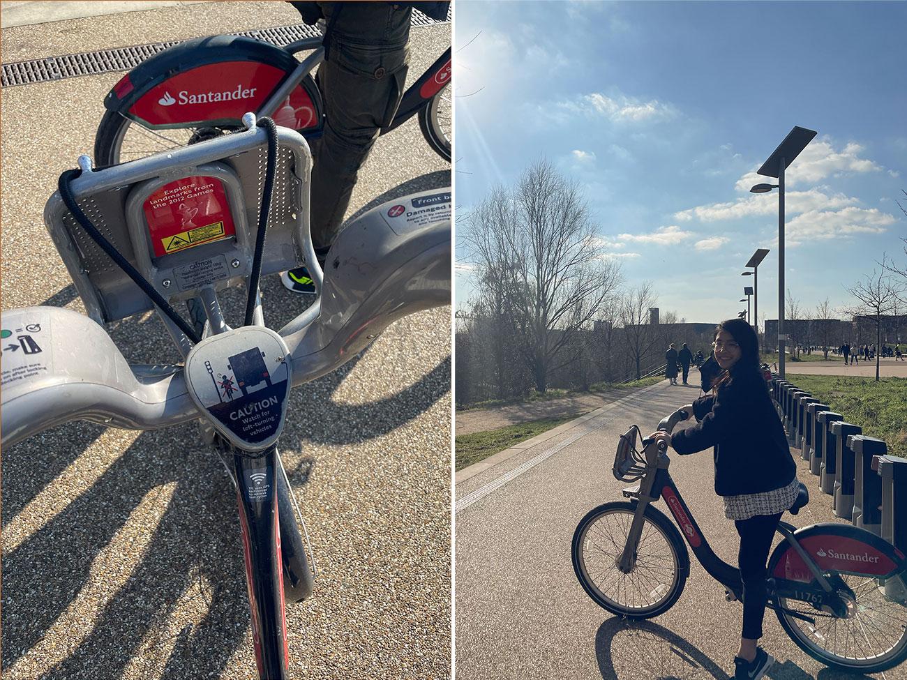 倫敦共享單車 Santander Cycle租借方式-檢查好坐墊和煞車狀況,都正常就可以出發