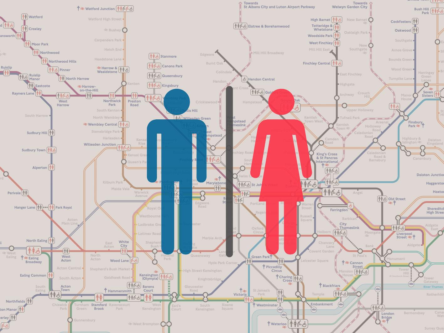 倫敦實用地圖整理:哪些地鐵站有洗手間?倫敦地鐵廁所指示地圖