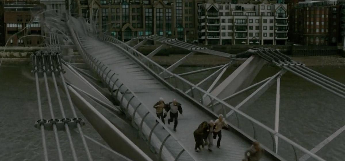 哈利波特在倫敦拍攝的10個知名電影場景-千禧橋/《混血王子的背叛》