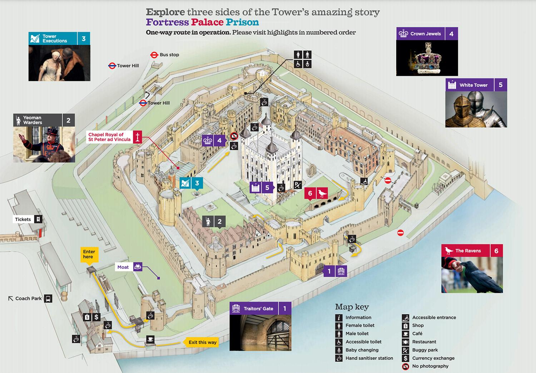 倫敦塔The Tower of London的必看重點有哪些?-倫敦塔導覽地圖
