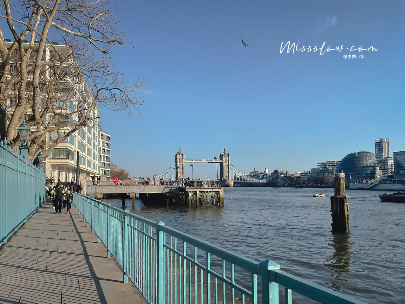 倫敦塔橋Tower Bridge超美的行人步道散步看風景