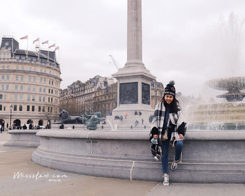 特拉法加廣場Trafalgar Square的必看5大重點&周邊的4間人氣咖啡店!-噴水池