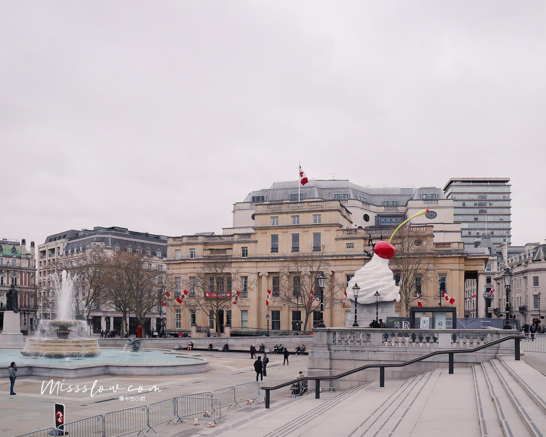 特拉法加廣場Trafalgar Square的第四根柱-每年都會更換裝置藝術