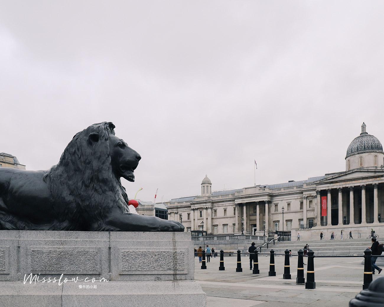特拉法加廣場Trafalgar Square的必看5大重點&周邊的4間人氣咖啡店!-銅獅子
