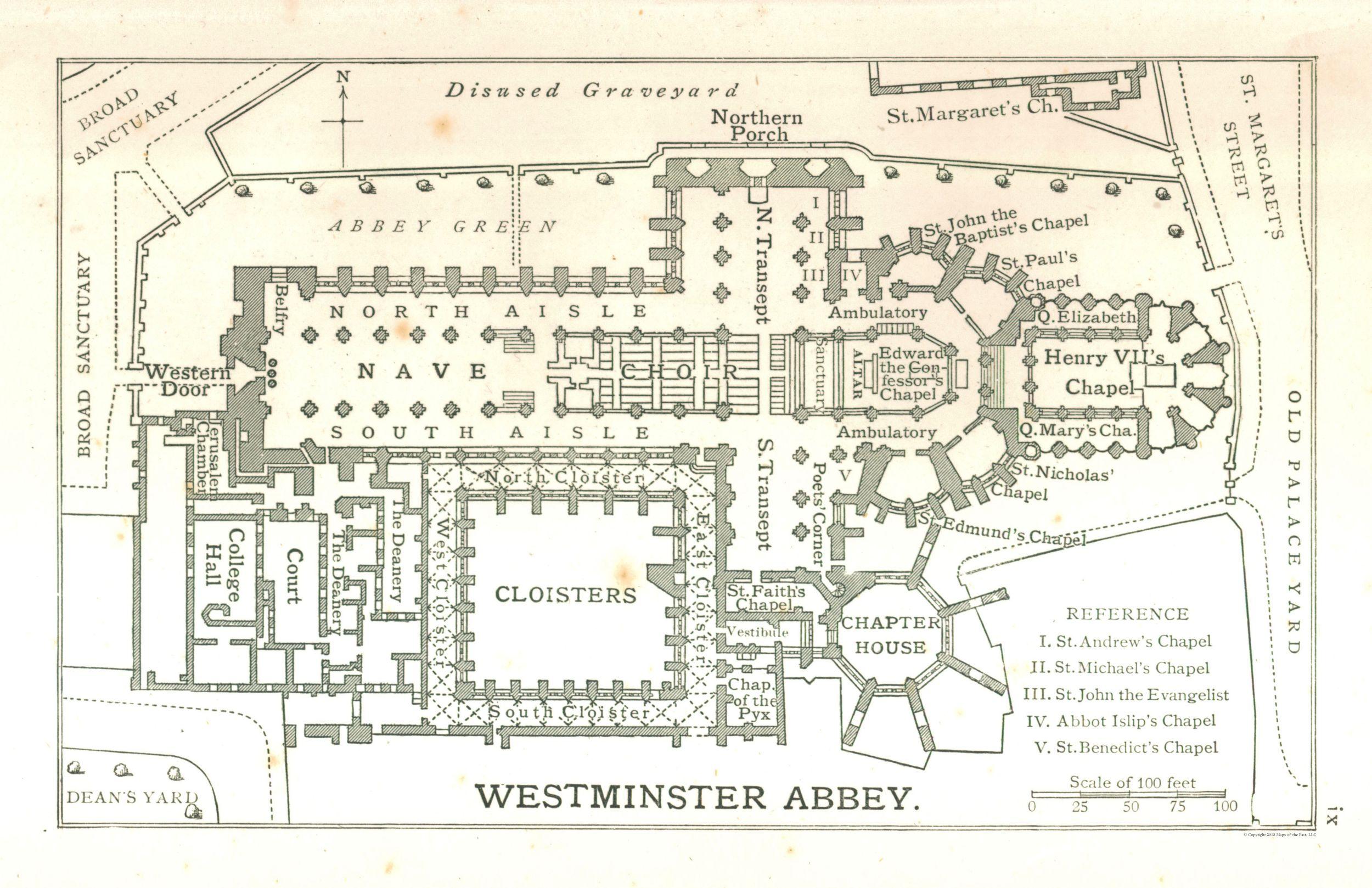 西敏寺內的地圖