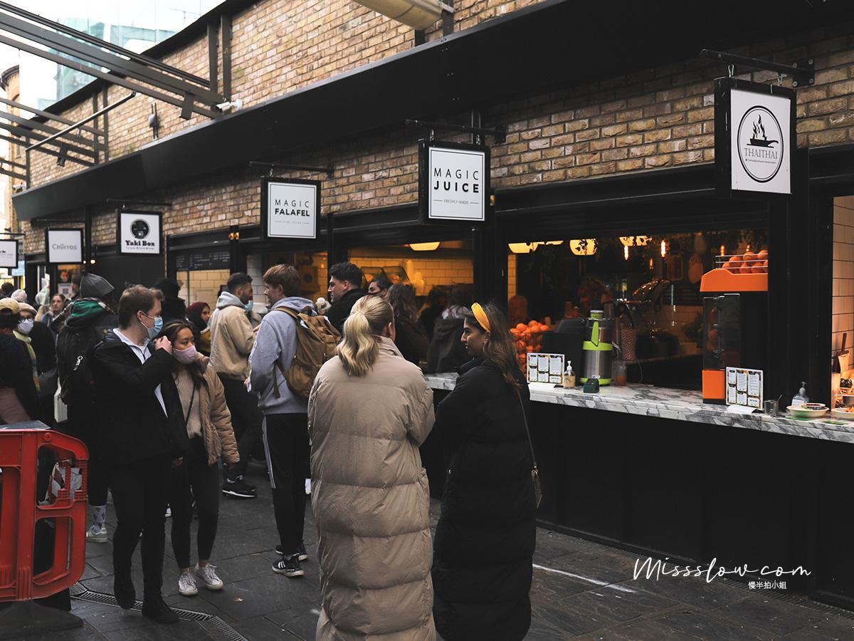 Camden Market肯頓市集內的小吃攤販