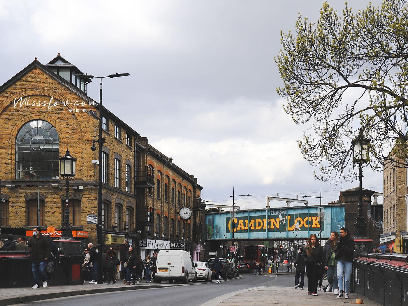 Camden Market肯頓市集 看到這座鐵橋,代表市集快要到了!
