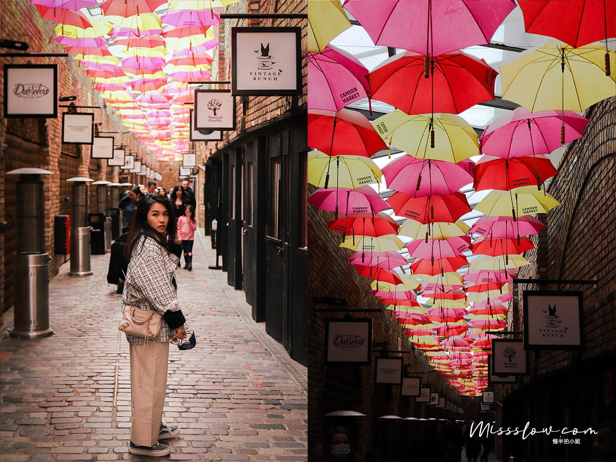 Camden Market肯頓市集內在IG上超紅的彩色雨傘街Umbrella street