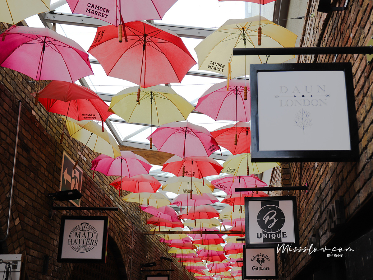 Camden Market肯頓市集 彩色雨傘街Umbrella street