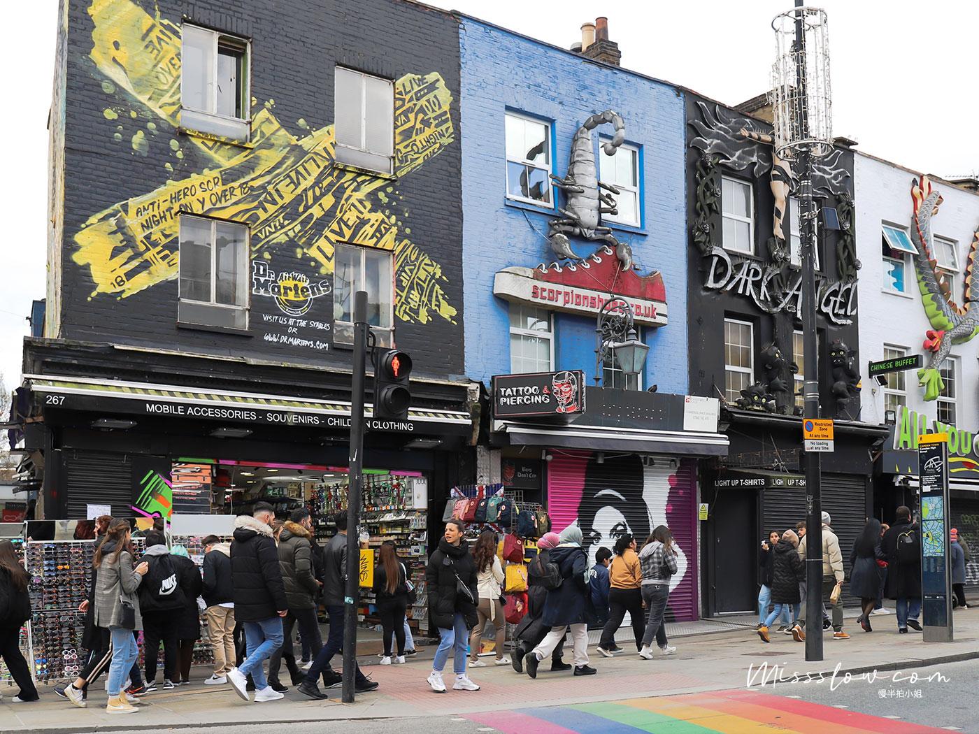 Camden Market的彩虹人行道,也是必拍的點之一,但要小心來車