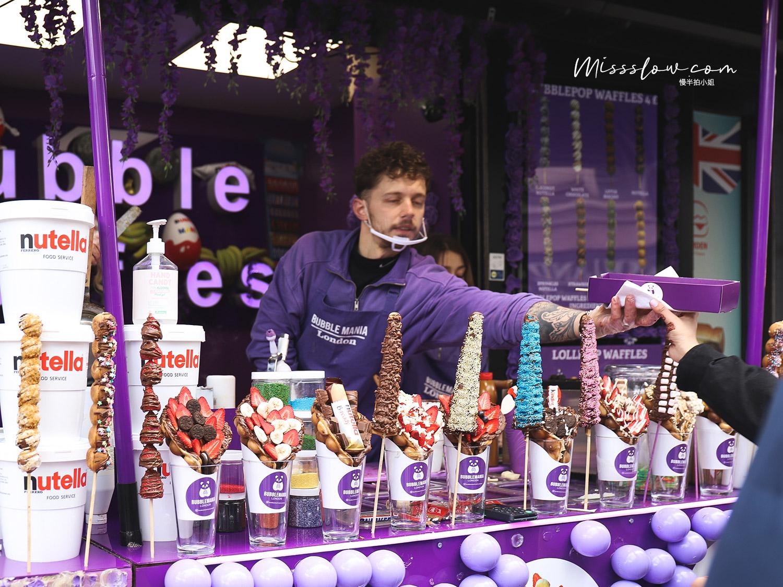 Camden Market肯頓市集-超多人排隊的雞蛋仔店 Bubble Mania