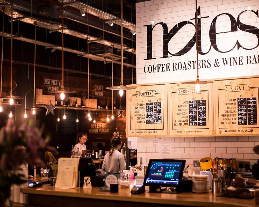 特拉法加廣場旁邊的推薦咖啡店:Notes Coffee Roasters & Bar