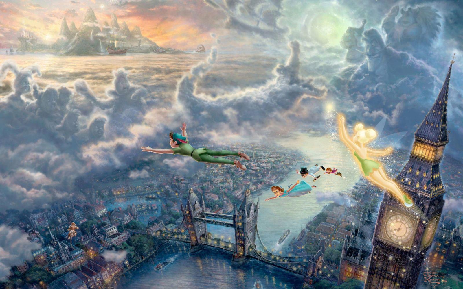 倫敦塔橋Tower Bridge河畔風景:超經典彼得潘和溫蒂、小精靈飛過倫敦塔橋的場景