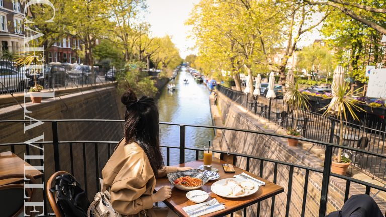 倫敦小威尼斯餐廳-Cafe Laville|絕美的開放式玻璃屋,近距離欣賞運河景