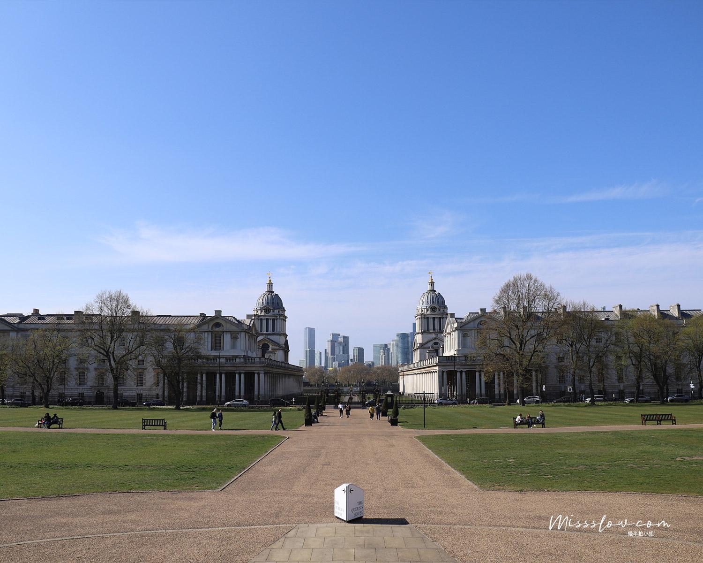 女王之屋 Queen's House 從女王之屋看往泰晤士河的方向,視野超好,這段景色好漂亮!